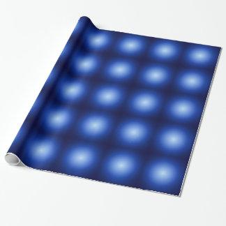 青い白熱金属球 ラッピングペーパー