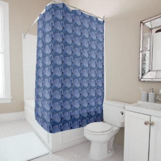 青い白鳥 シャワーカーテン