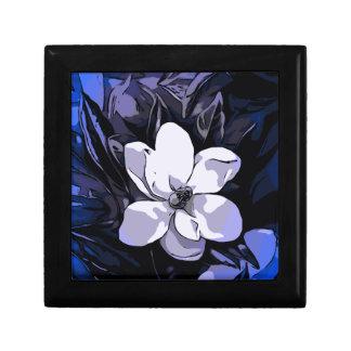 青い白黒の抽象芸術の花 ギフトボックス