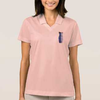 青い白黒の金ゴールドの服のゴルフワイシャツのポロ ポロシャツ