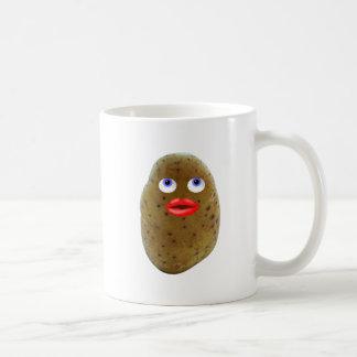 青い目のコーヒー・マグが付いているおもしろいなポテトのキャラクター コーヒーマグカップ