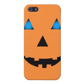 青い目のハロウィーンのカボチャのちょうちん iPhone 5 ケース