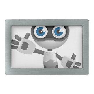 """""""青い目のロボット"""" 長方形ベルトバックル"""