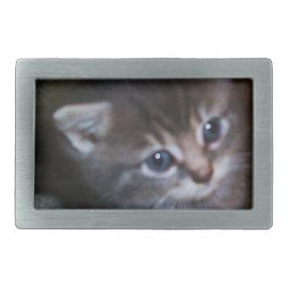 青い目の子ネコのベルトの留め金 長方形ベルトバックル