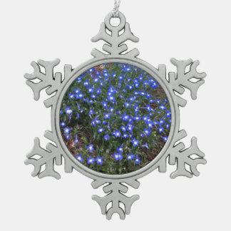 青い目の宮殿のロベリア スノーフレークピューターオーナメント
