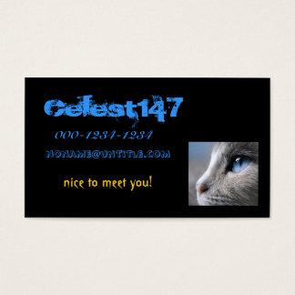 青い目の猫 ロシアンブルーの名刺 名刺