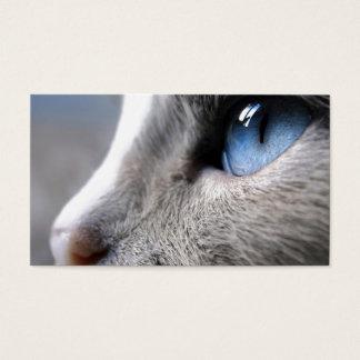 青い目の猫 ロシアンブルーの黒名刺 名刺