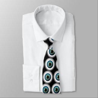 青い目の眼球のクールでカスタムなネクタイのタイ ネクタイ