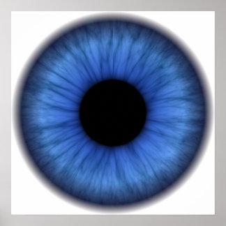 青い目はかわいいです ポスター
