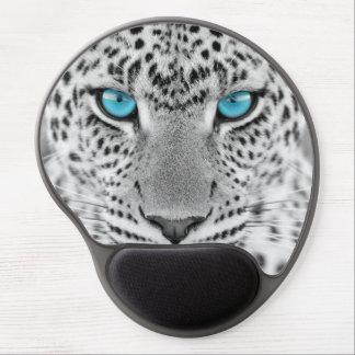 青い目を持つ白黒ジャガー ジェルマウスパッド