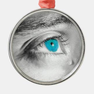 青い目 メタルオーナメント