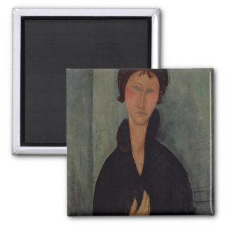 青い目、c.1918を持つ女性 マグネット