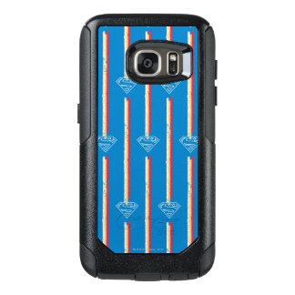 青い盾パターン オッターボックスSamsung GALAXY S7ケース