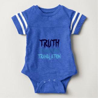 青い真実はスポーティなベビーのスーツを超越します ベビーボディスーツ