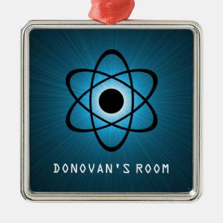 青い真面目な原子ドア・ハンガーのオーナメント メタルオーナメント