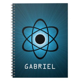 青い真面目な原子ノート ノートブック