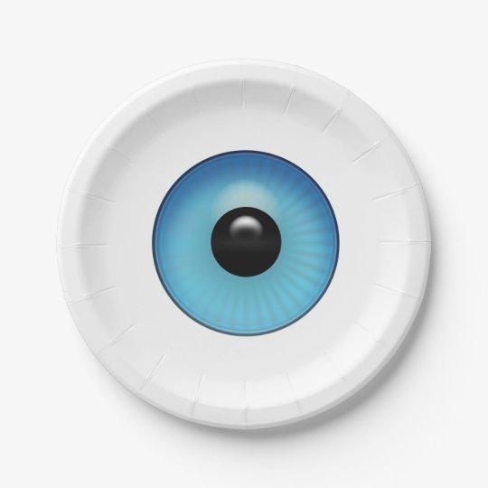 青い眼球 ペーパープレート