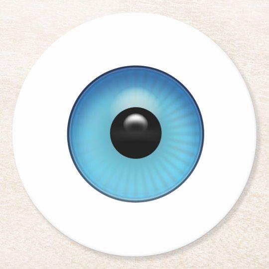 青い眼球 ラウンドペーパーコースター