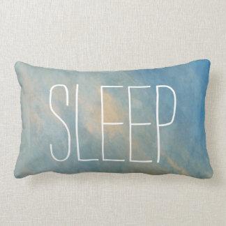 青い睡眠の水彩画のLumbarの枕 ランバークッション