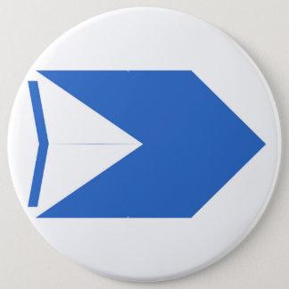 青い矢 15.2CM 丸型バッジ