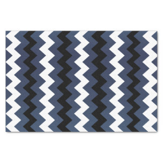 青い石板白黒シェブロン 薄葉紙