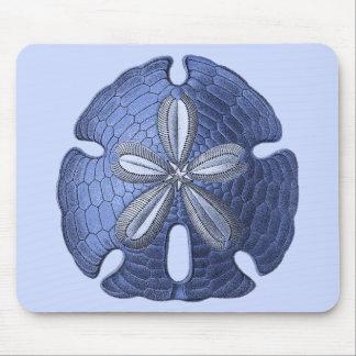 青い砂ドル マウスパッド