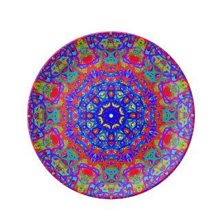 青い磁器皿の愛のため 磁器プレート