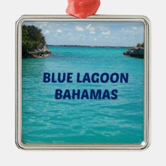 青い礁湖バハマ メタルオーナメント