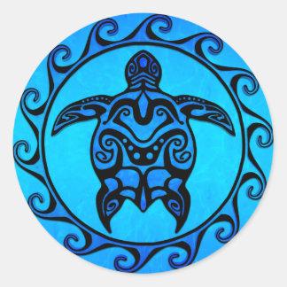青い種族のカメ日曜日 ラウンドシール
