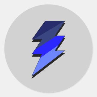 青い稲妻の落雷 ラウンドシール