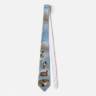 青い穴のマガモ ネクタイ