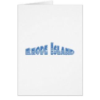 青い米国旗ロードアイランド カード