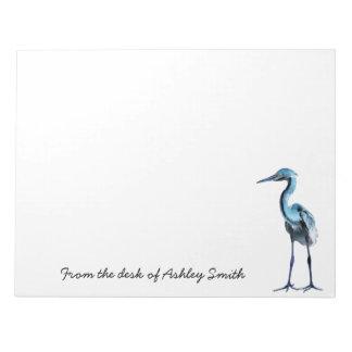 青い素晴らしい鷲または名前入り ノートパッド