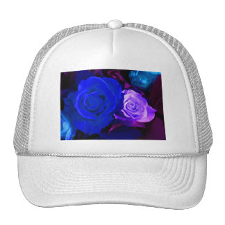 青い紫色のバラ メッシュハット