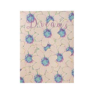 青い紫色の夢 ウッドポスター
