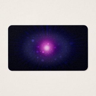 青い紫色の宇宙の銀河系の星の抽象芸術 名刺
