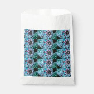 青い紫色の抽象デザイン フェイバーバッグ