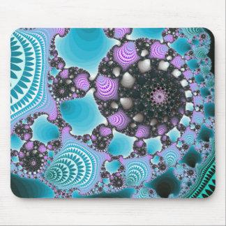 青い紫色の抽象デザイン マウスパッド
