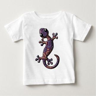 青い紫色の登山のヤモリのトカゲ ベビーTシャツ