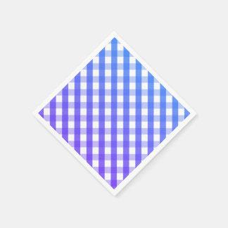 青い紫色の白いギンガムのナプキン スタンダードカクテルナプキン