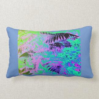 青い紫色の緑のシダの抽象芸術のLumbarの枕 ランバークッション