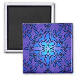 青い紫色のStaindedのガラススタイルのデザイン マグネット