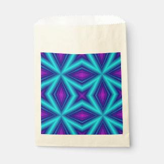 青い紫色ライン フェイバーバッグ