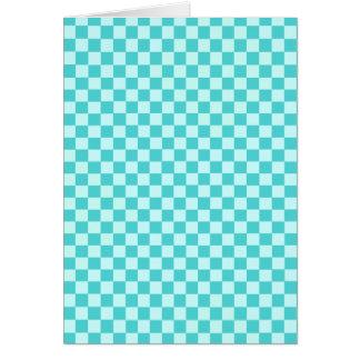 青い組合せのクラシックのチェッカーボード カード