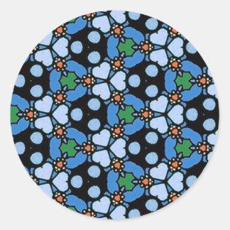 青い組合せ及びマッチの収集品- 08 ラウンドシール
