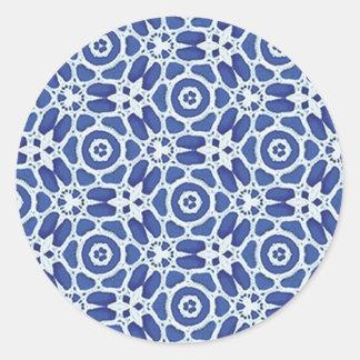 青い組合せ及びマッチの収集品- 09 ラウンドシール