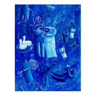 青い結婚式 ポストカード