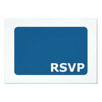 青い結婚RSVP カード