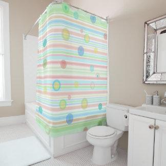 """""""、青い緑、モモは""""シャワー・カーテンを縞で飾ります シャワーカーテン"""