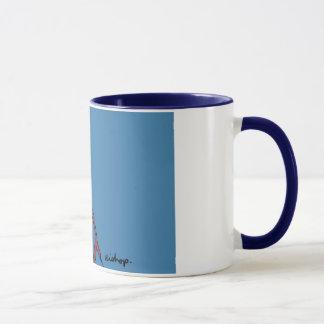 青い縁を持つ青い司教 マグカップ